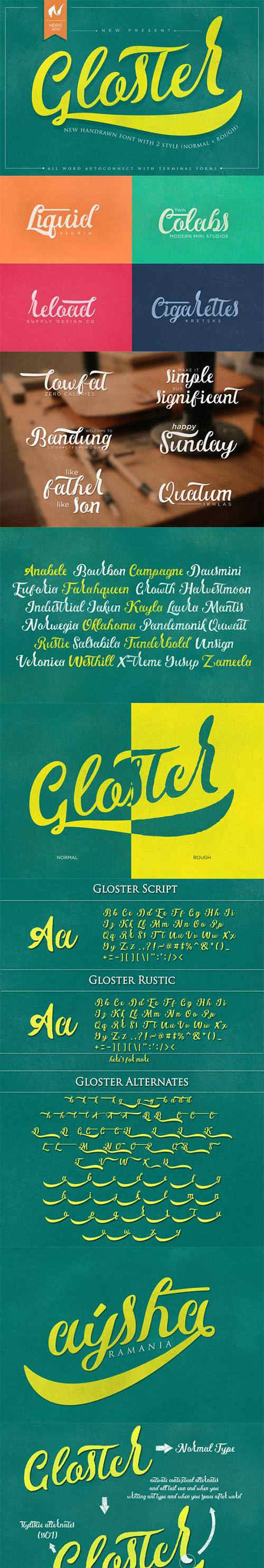 Font - Gloster Typeface