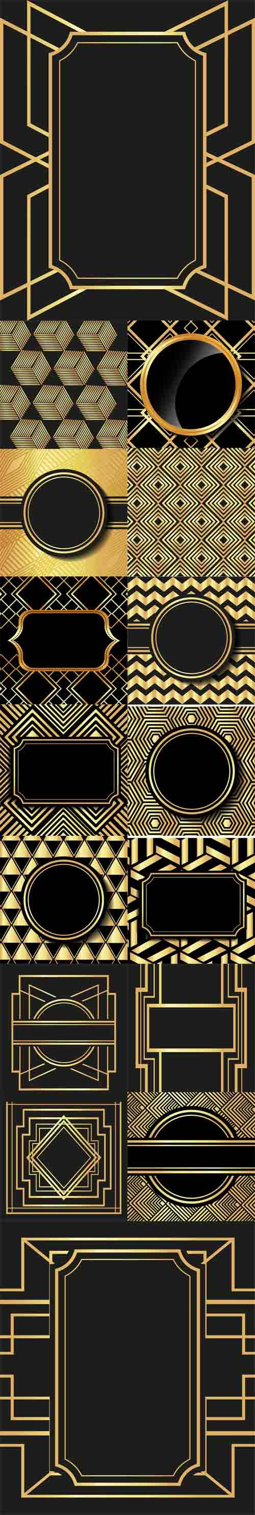 Vector Flat Illustration About Gatsby Backgrounds Design