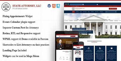 ThemeForest - Attorney & Law v1.3 - Lawyers WordPress Theme - 10959096