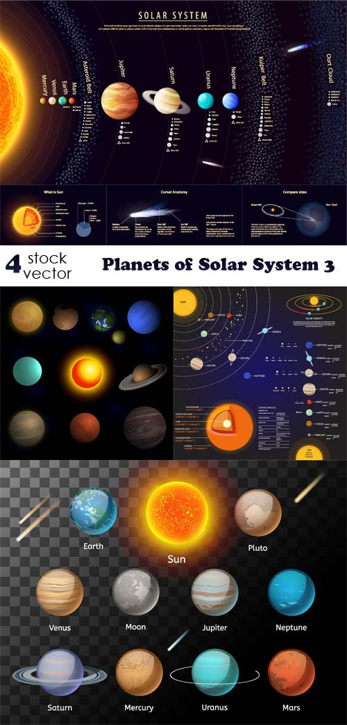 Vectors - Planets of Solar System 3