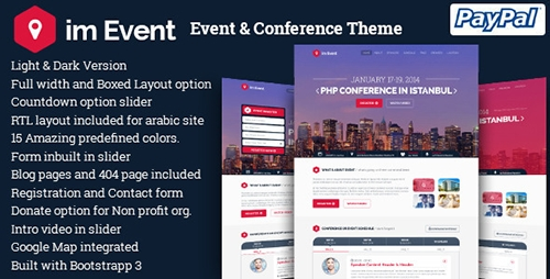 ThemeForest - im Event v2.9.3 - Event & Conference WordPress Theme - 9533576