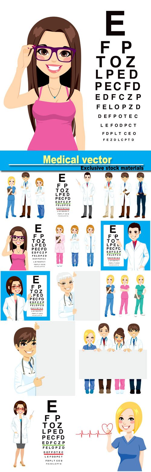 Medical vector, doctors, optometrist