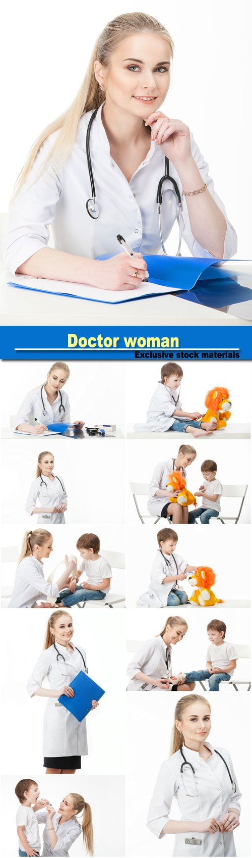 Doctor woman and child patient