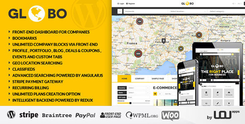 ThemeForest - Globo v1.1.5 - Directory Listings WordPress Theme - 10203171