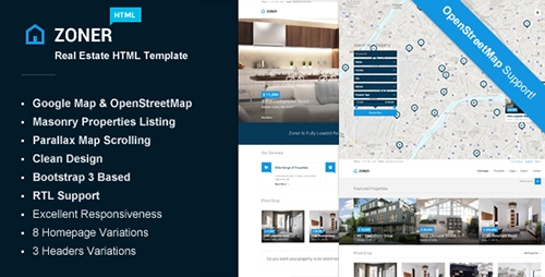 ThemeForest - Zoner - Real Estate HTML Template (Update: 24 August 15) - 9996429