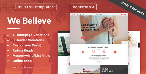 ThemeForest - WeBelieve v1.0.2 - Church, Charity, Nonprofit & Fundraising Responsive HTML5 Template ...