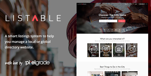 ThemeForest - LISTABLE v1.6.3 - A Friendly Directory WordPress Theme - 13398377