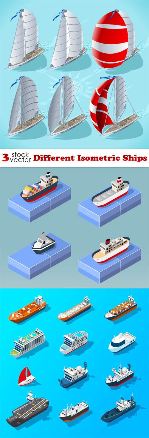 Vectors - Different Isometric Ships