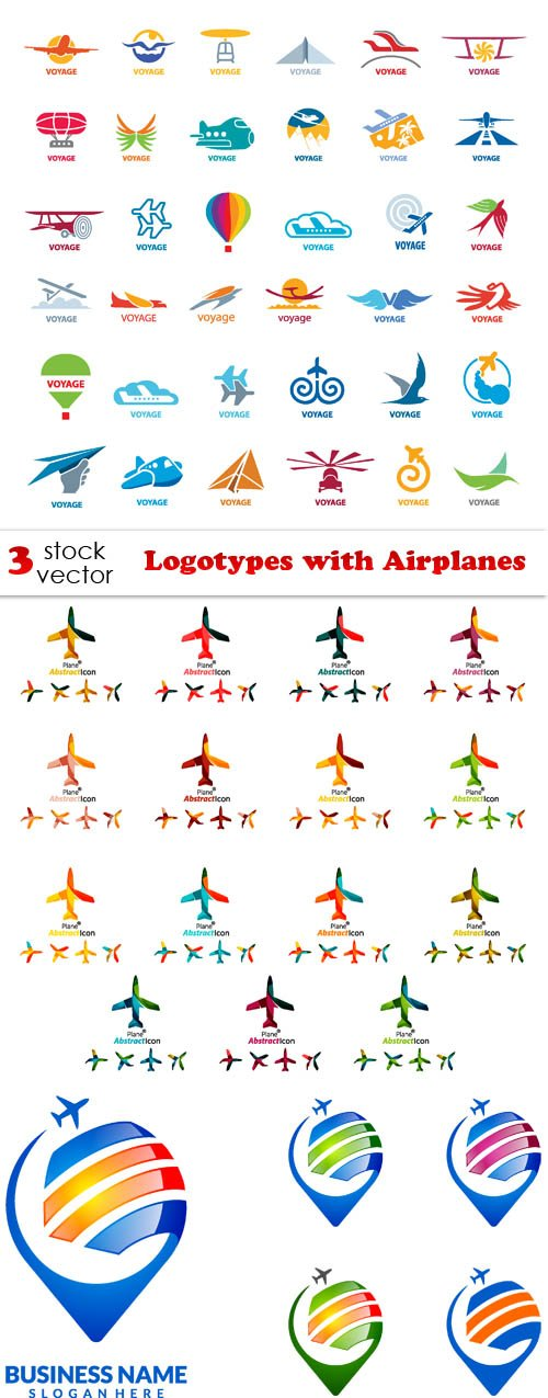 Vectors - Logotypes with Airplanes