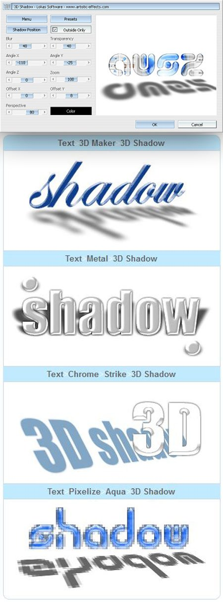 3D Shadow 1.2 Plugin for Photoshop