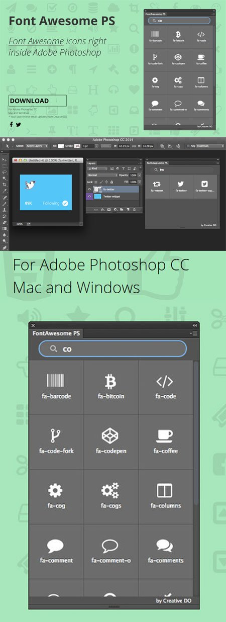 Font Awesome PS 1.1.0 Plugin for Photoshop