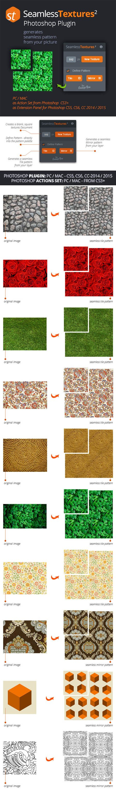 Seamless Textures Generator Version 2 Plugin for Photoshop