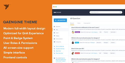 ThemeForest - QAEngine v2.0.1  - Question and Answer WordPress Theme - 7972399