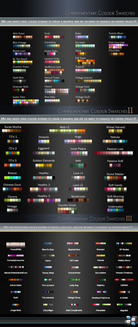 Color Swatches for Photoshop