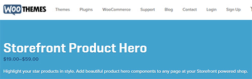 WooThemes - Storefront Product Hero v1.2.7
