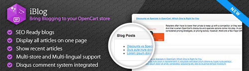 iBlog v2.7.3 - The Smart Choice For Blogging - OpenCart Extension