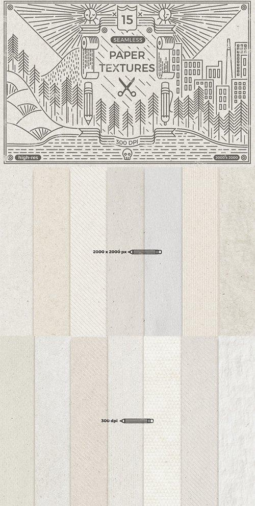 Seamless paper textures - Creativemarket 234275