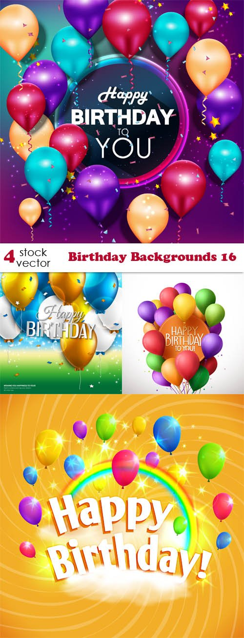 Vectors - Birthday Backgrounds 16
