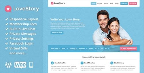 ThemeForest - LoveStory v1.16 - Dating WordPress Theme - 5087155