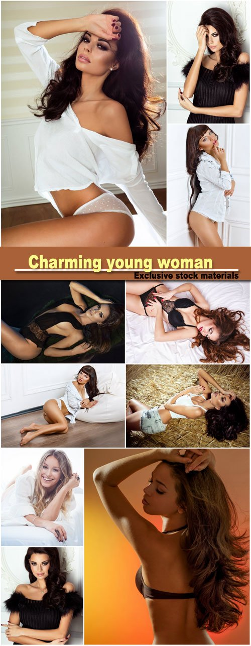 Charming young woman, sexy girls