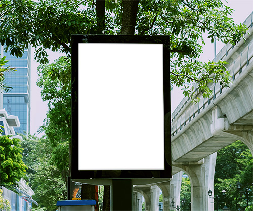 PSD Mockup For Advertisement - Road Side Poster
