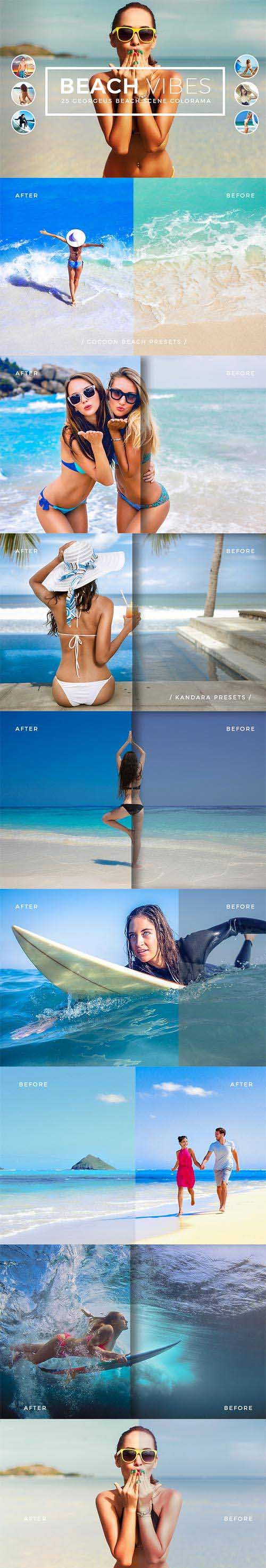Beach Vibes Photoshop Actions 667704