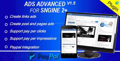 CodeCanyon - Plugin Ads Advanced For Sngine v1.5 - 15390452