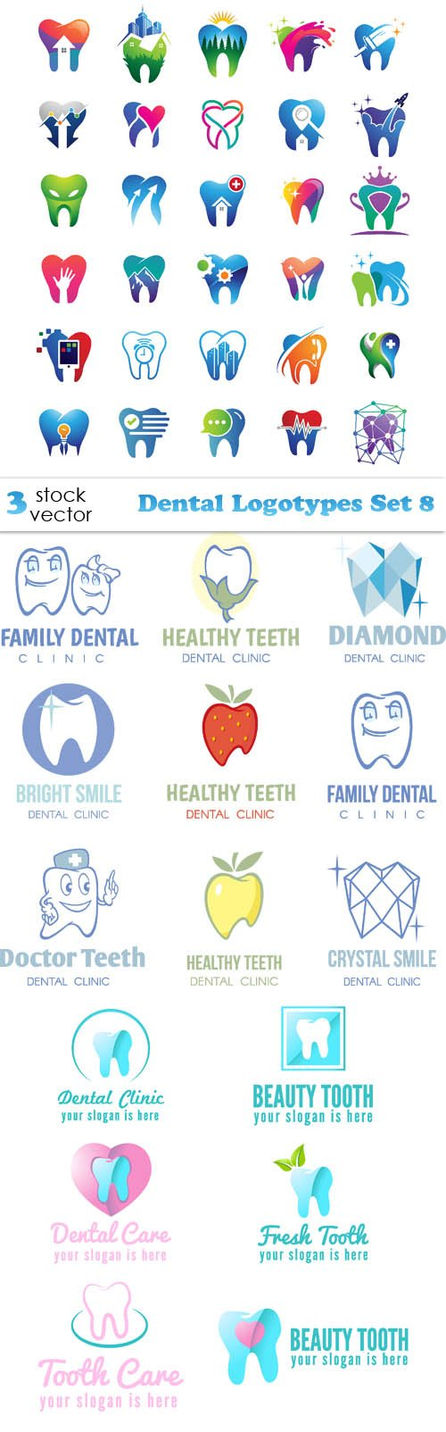 Vectors - Dental Logotypes Set 8