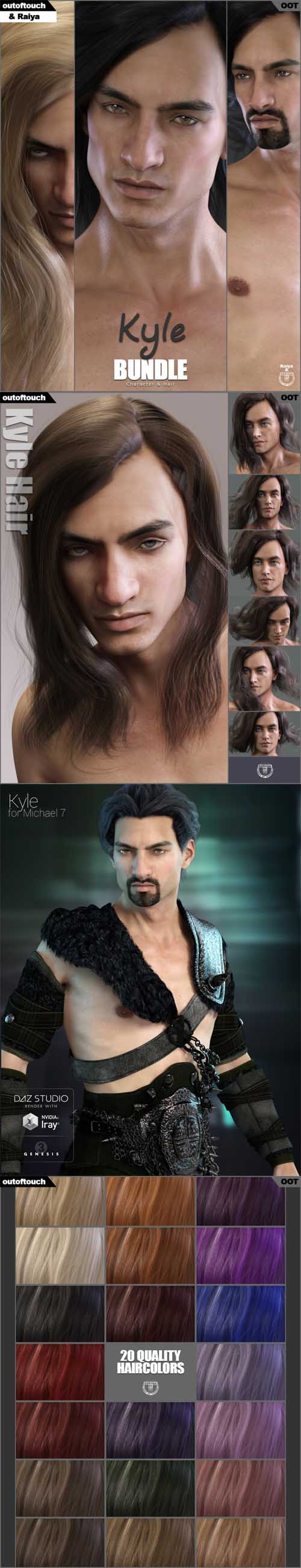 DAZ3D Kyle Character and Hair Bundle