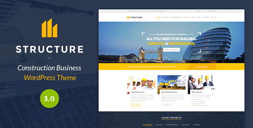 ThemeForest - Structure v3.1.5 - Construction WordPress Theme - 10798442