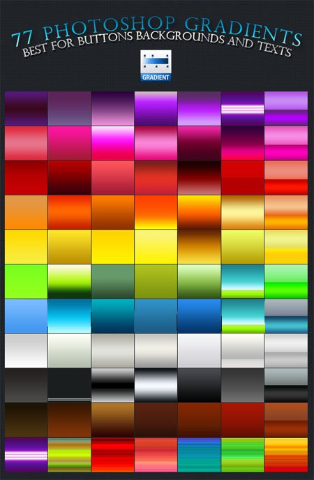 77 Colorful Photoshop Gradients