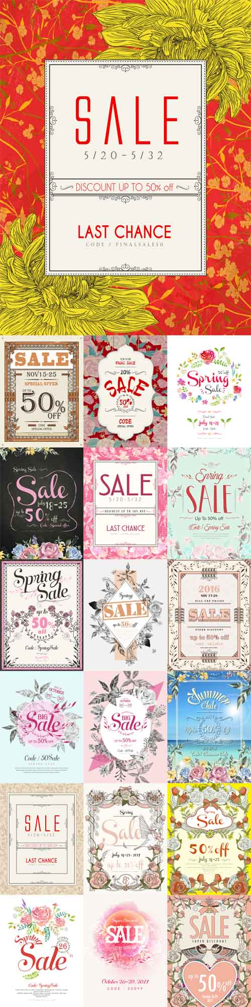 Vector 22 Sale Spring Posters