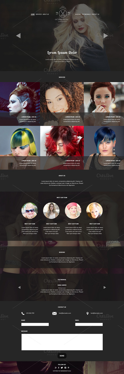 Hair Salon - PSD Website Template - CM 677125