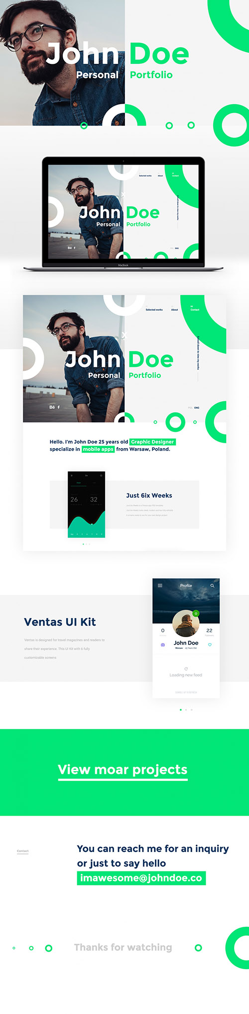 PSD Web Template - JohnDoe Pesonal Portfolio