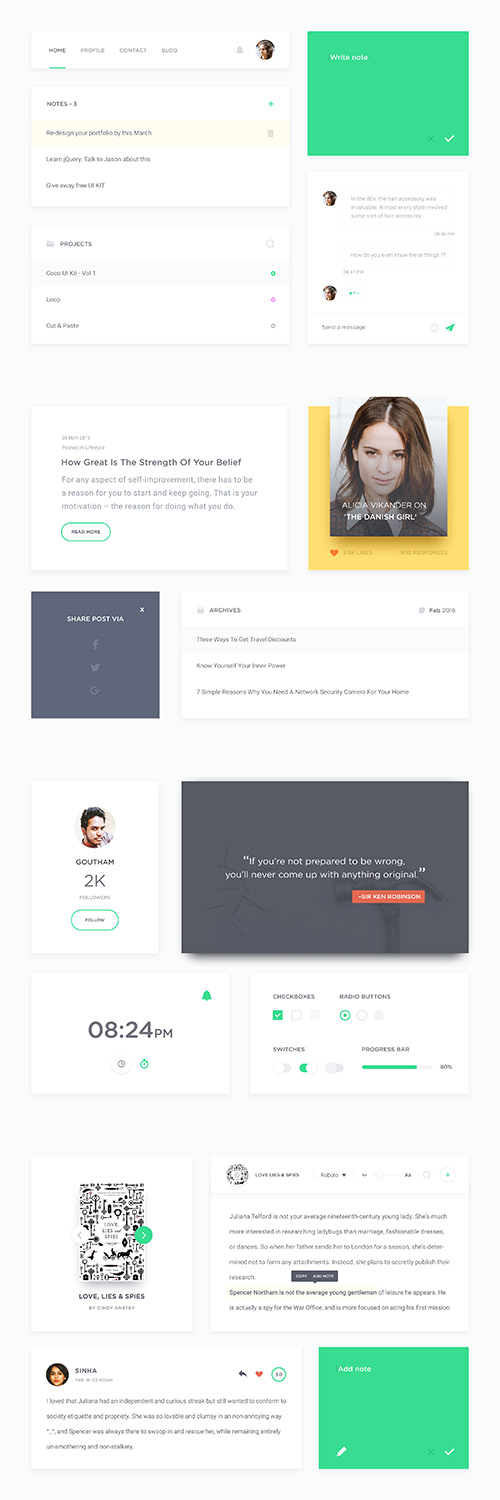 PSD Web Design - Coco Ui Kits 2016