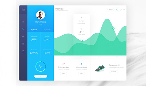 PSD Web Design - Hygea Dashboard 2016
