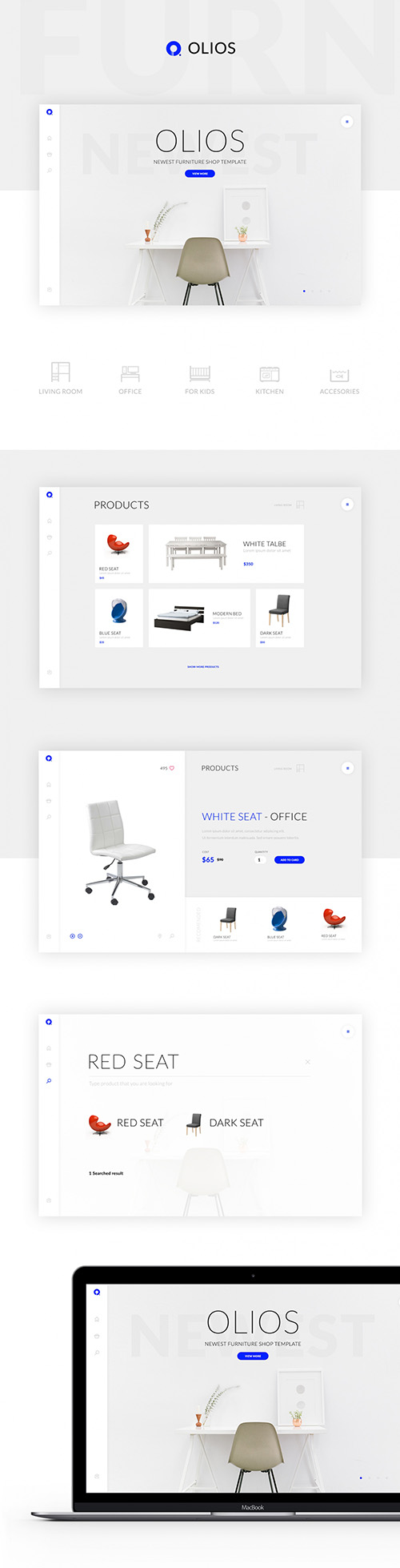 PSD Web Template - Olios