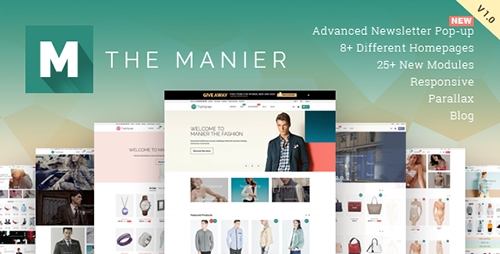 ThemeForest - TheManier v1.2.1 - Premium Multi-Purpose PrestaShop v1.6.1.x Theme - 9651253