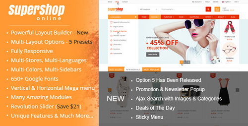 ThemeForest - SuperShop v2.8.12 - Multi-Purpose Responsive Prestashop Theme - 10186257