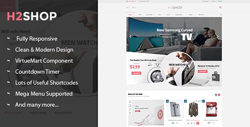 ThemeForest - H2shop v1.1.0 - Responsive Multipurpose VirtueMart Theme - 13347352