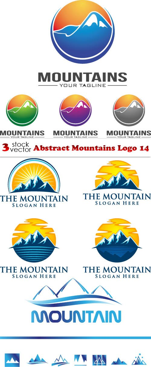 Vectors - Abstract Mountains Logo 14