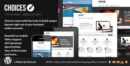 ThemeForest - Choices v2.6 - Responsive Business and Portfolio - 2536338