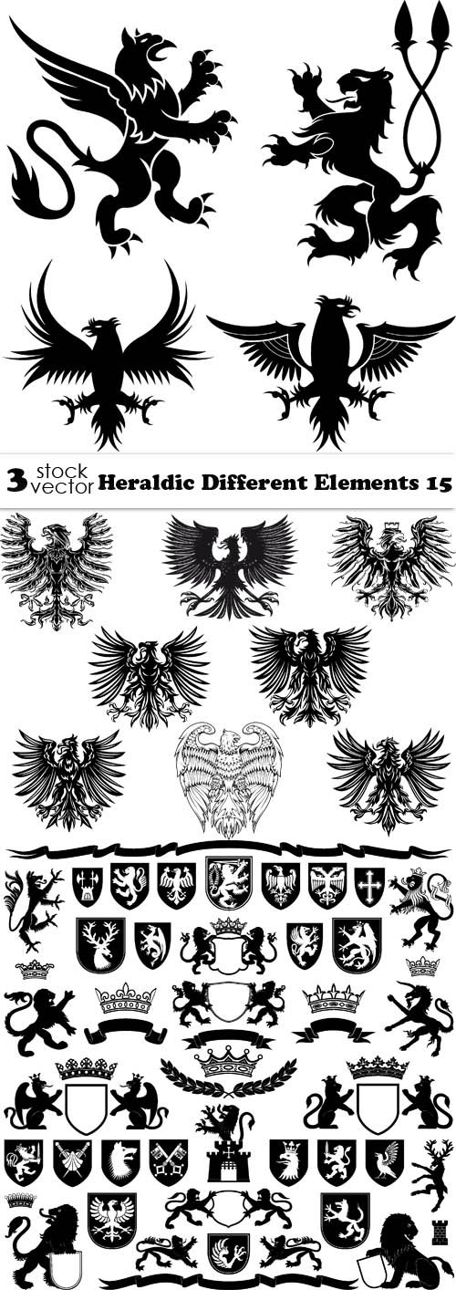 Vectors - Heraldic Different Elements 15