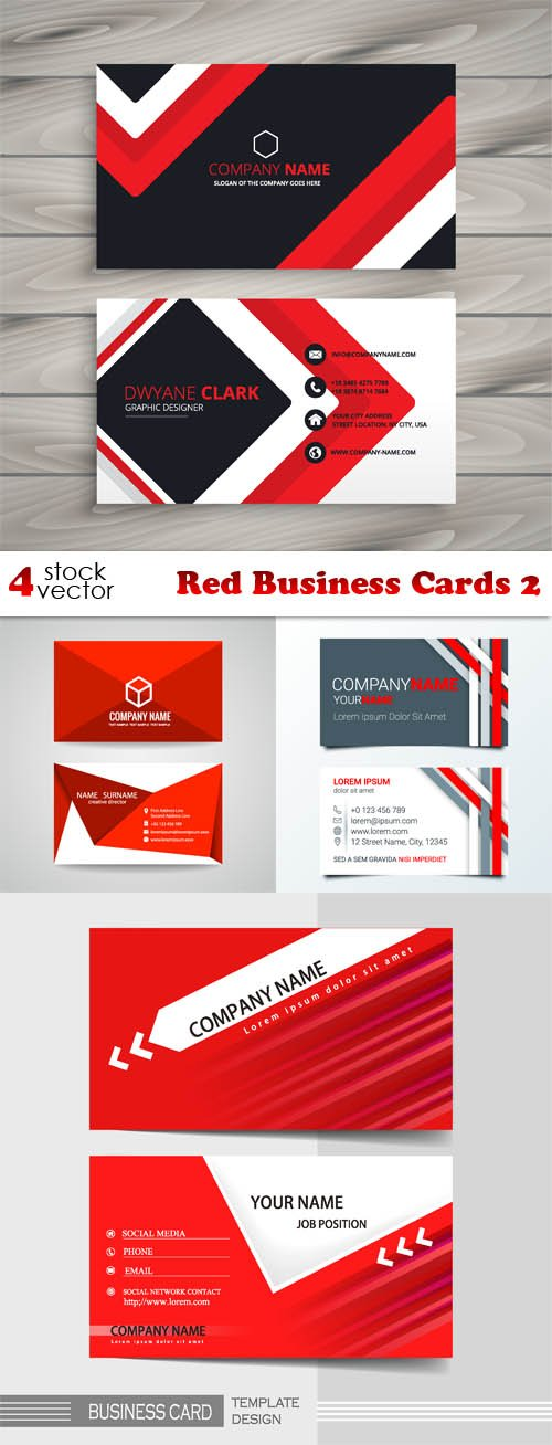 Vectors - Red Business Cards 2