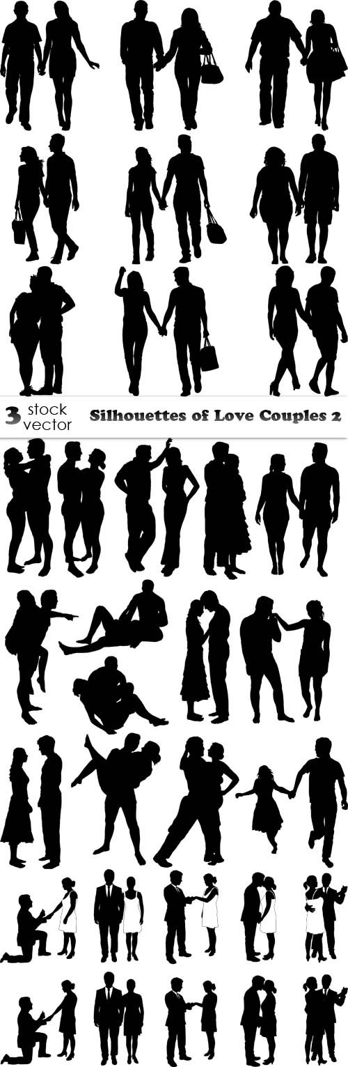 Vectors - Silhouettes of Love Couples 2