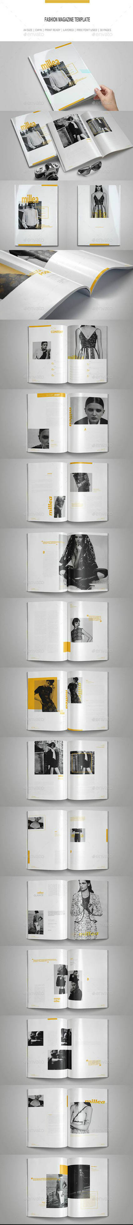Simple Clean Fashion Magazine Template 16268160
