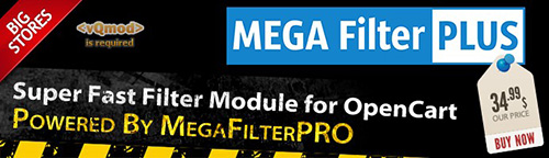 Mega Filter PLUS v1.2.2 + Mega Filter PRO v2.0.4.4.7 - OpenCart Extension