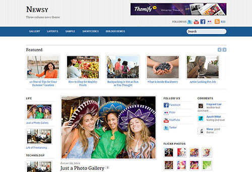 Themify - Newsy v1.8.9 - WordPress Theme