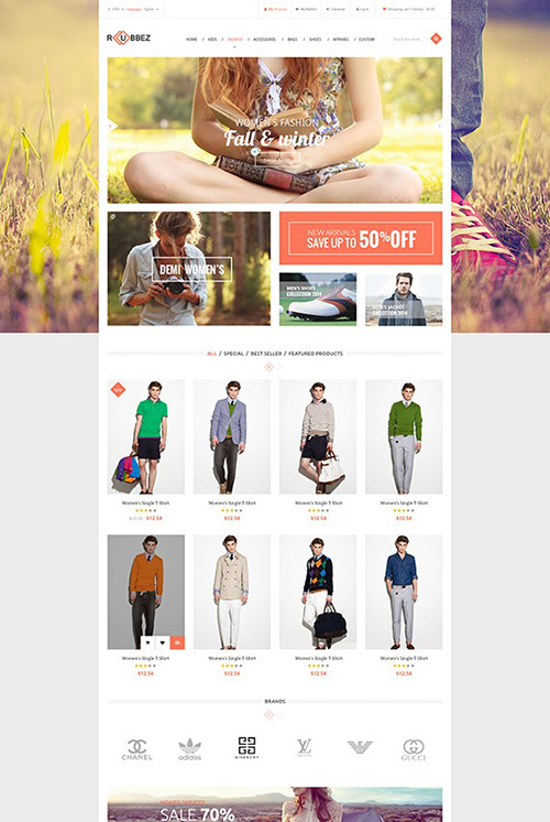 PosThemes - Rubbez v1.0 - Responsive Fashion Prestashop 1.6.0.11 Theme