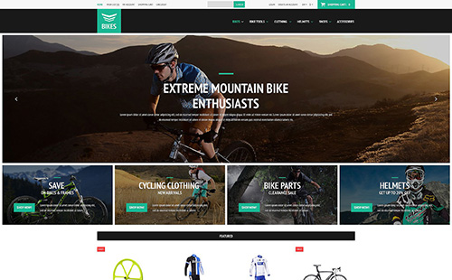 Cycling Equipment - OpenCart 2.0.1.0 Template - TM 52755